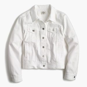 J. Crew Denim Jacket in White